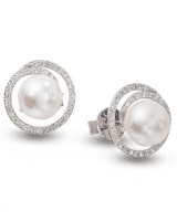 Diamond Earrings Pearl