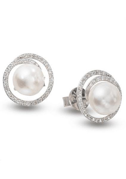 Diamond Earrings Pearl