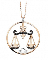 Carat Diamond Necklace Libra